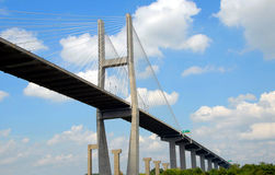 Bridge Span. Photographed bridge span in Savannah Georgia royalty free stock photos