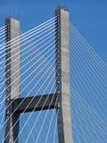 Bridge Span. A concrete suspension bridge span royalty free stock photography