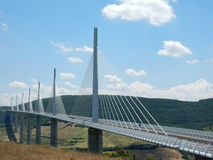 Bridge spanning a valley Stock Images