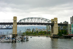 A bridge spanning a waterway in vancouver Stock Images
