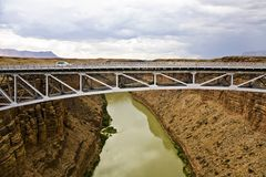Bridge spans marble canyon Stock Image