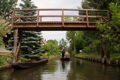 Bridge in spreewald in germany Royalty Free Stock Photo