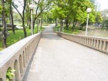 Bridge in garden. Stock Photos