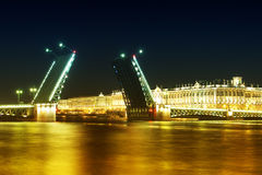 Bridge in spring night Stock Photo