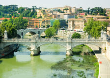 Bridge of St. Angelo Royalty Free Stock Images