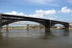 Bridge in St. Louis stock photography