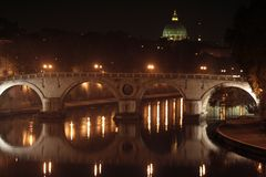 Bridge and St. Peter on the Tiber Stock Photography
