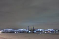 Bridge in St. Petersburg stock photography