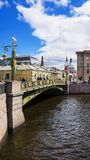 Bridge in St. Petersburg, Russia Stock Images