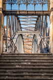 A bridge with stairs and blue sky Stock Images