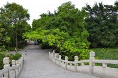 Bridge. Standing on the Chinese arch bridge scenery Stock Photography