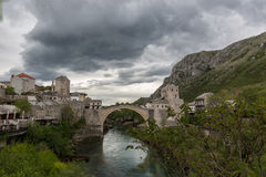 Bridge Stari Most in Mostar Royalty Free Stock Photography
