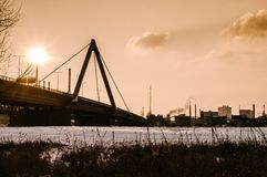 Bridge and Steel Industry Stock Image