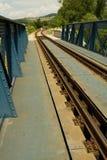 Bridge. Steel railroad bridge in countryside Royalty Free Stock Image