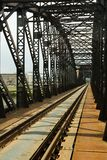 Bridge. Steel railroad bridge in countryside Royalty Free Stock Photos