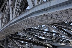 Bridge steel structures Royalty Free Stock Photos