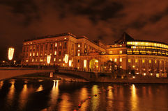 Bridge in Stockholm by night Stock Photography