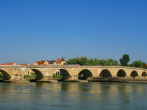 Bridge of Stone. The Bridge of Stone in Regensburg, Germany Stock Photography