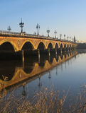 Bridge; stone; France; bordeaux; garonne; Royalty Free Stock Photography