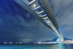 Bridge. Stonecutters bridge in Hong Kong Royalty Free Stock Image