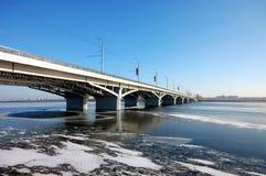 Bridge on storage pond Stock Photography
