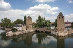 Bridge in Strasbourg Stock Images