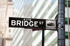 Bridge street New York Stock Photo