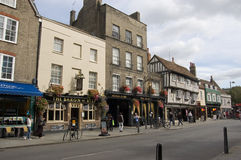 Bridge Street pubs, Cambridge Royalty Free Stock Images