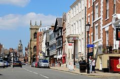 Bridge Street shops, Chester. Royalty Free Stock Photo