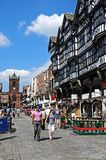 Bridge Street Shops, Chester. Royalty Free Stock Photography