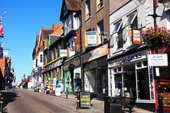 Bridge Street Shops, Evesham. Royalty Free Stock Photography