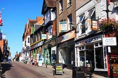 Bridge Street Shops, Evesham. Royalty Free Stock Photography
