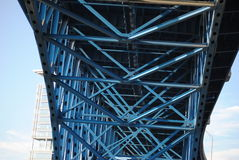 Bridge. A structure built to span physical obstacles such as a body of water,or land Stock Photo