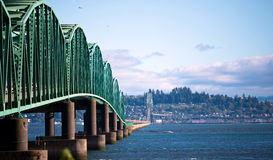 Bridge structure Columbia River in Astoria Pacific Stock Photography