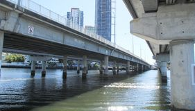 Bridge structure in gold coast surfers paradise Stock Photography