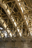 Bridge structure. Steel framework of the bridge Royalty Free Stock Photography