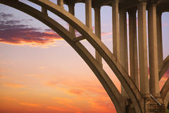 Bridge Structure At Sunset Stock Photos