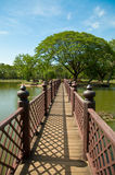 The Bridge in sukothai historical park Royalty Free Stock Image