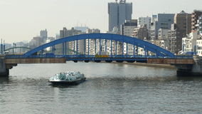 Bridge in Sumida Japan stock footage