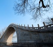 Bridge in the Summer Palace. Took in winter. adding contrast and saturation in photoshop Royalty Free Stock Photos