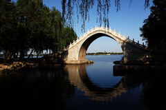A bridge in the Summer Palace Stock Images