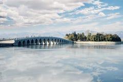 Bridge at the Summer Palace stock photography