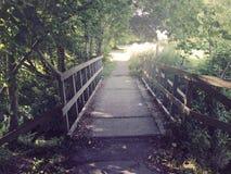 Bridge. On a sunny day Royalty Free Stock Image
