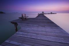 Bridge in sunrise Royalty Free Stock Photo