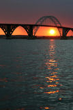 Bridge at Sunset Stock Images