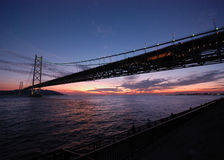 Bridge and sunset Royalty Free Stock Images