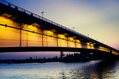 Bridge at sunset Royalty Free Stock Image