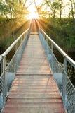 Bridge on a sunset Royalty Free Stock Photos