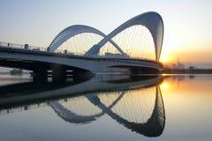 Bridge and sunset Stock Photography