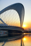 Bridge and sunset Royalty Free Stock Photo